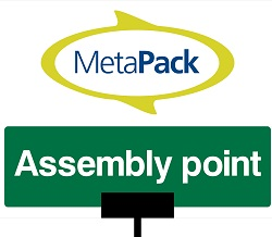 MetaPack Assembly Point 2 Sign