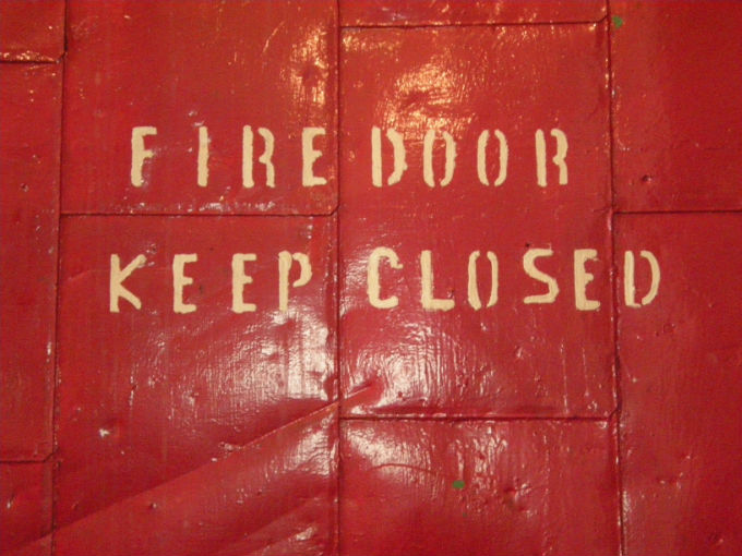 Fire Door Keep Closed | Red Box Fire Control
