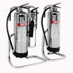 Tubular Chrome Extinguisher Stands